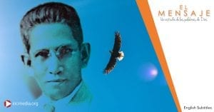 portrait of Felix Y. Manalo next to an eagle flying in the sky