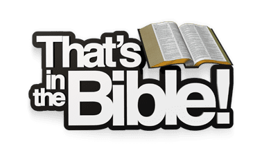 That's in the Bible logo