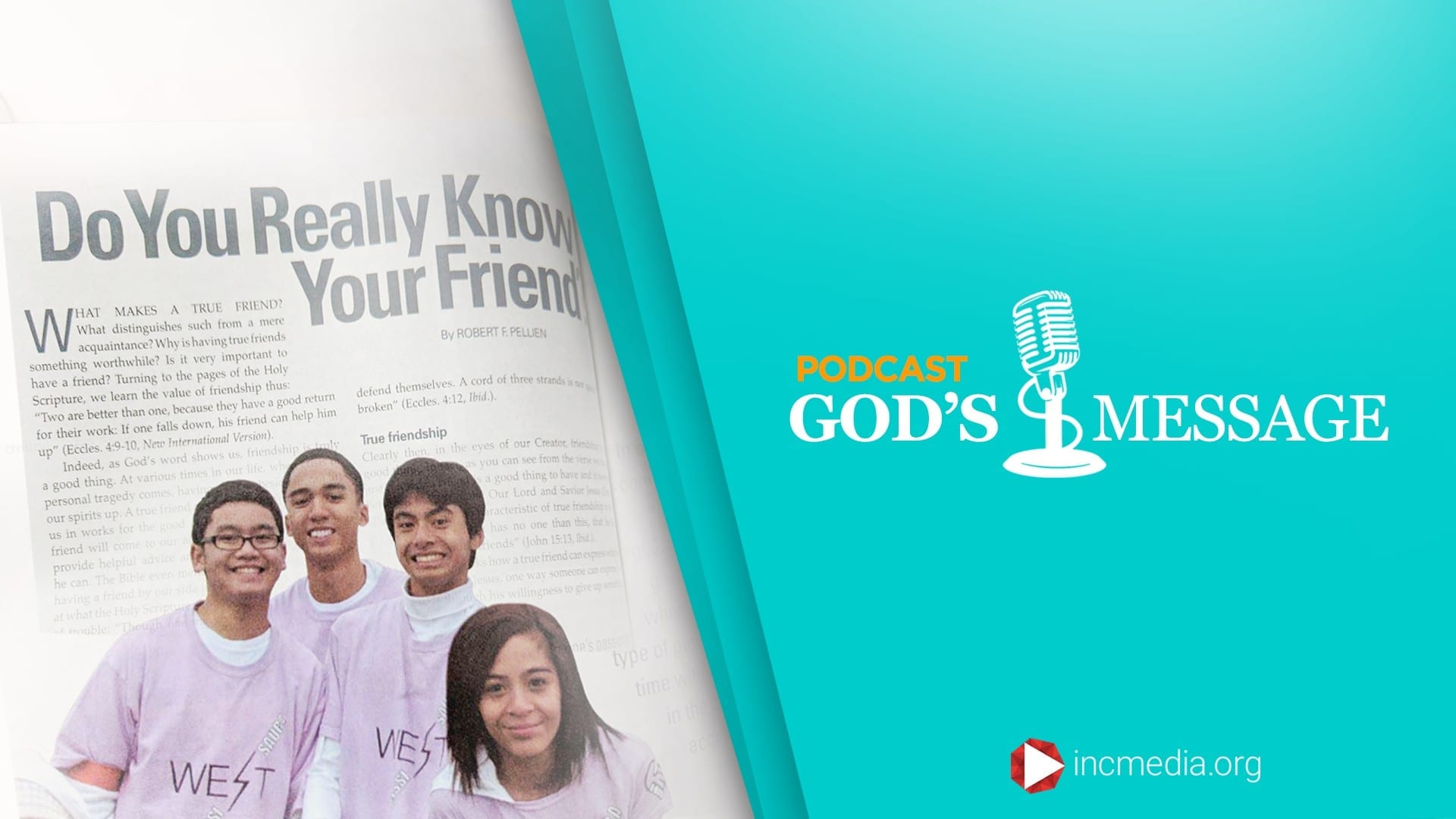 Do You Really Know Your Friend God's Message Podcast