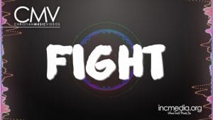 Black background with sound waves with text overlay Fight.