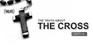 """Crucifix with text """"The Truth About the Cross"""""""