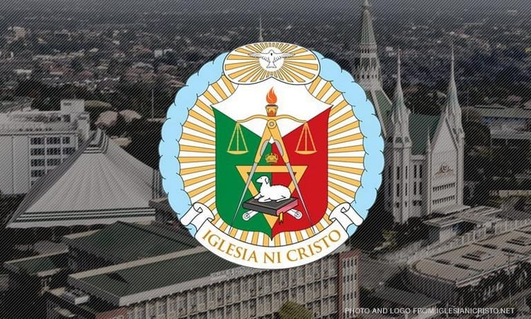Church Of Christ Central house of worship with overlay image of the logo of Iglesia Ni Cristo