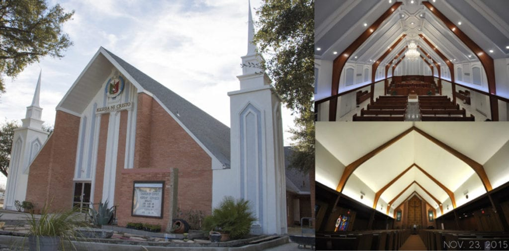 interior and exterior view of the Iglesia Ni Cristo, Church Of Christ in Universal City
