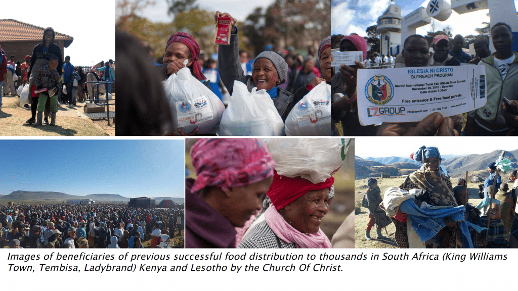 donations being given as aid to people in Africa