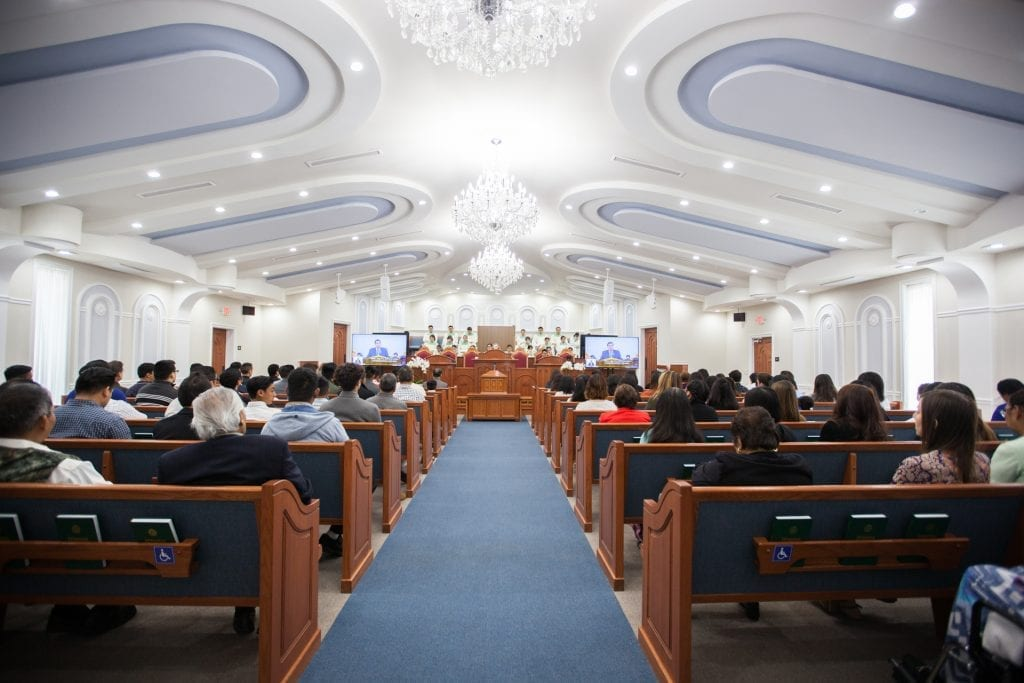 Worship service in chapel