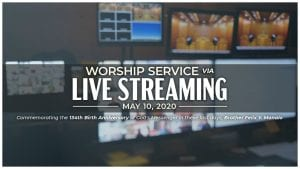 live streaming text over office with many tvs and computer screens