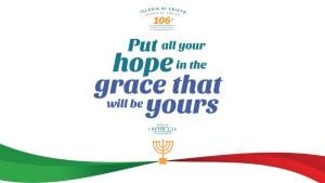 """1 Peter 1:13 Verse Graphic """"Put all your hope in the grace that will be yours"""""""