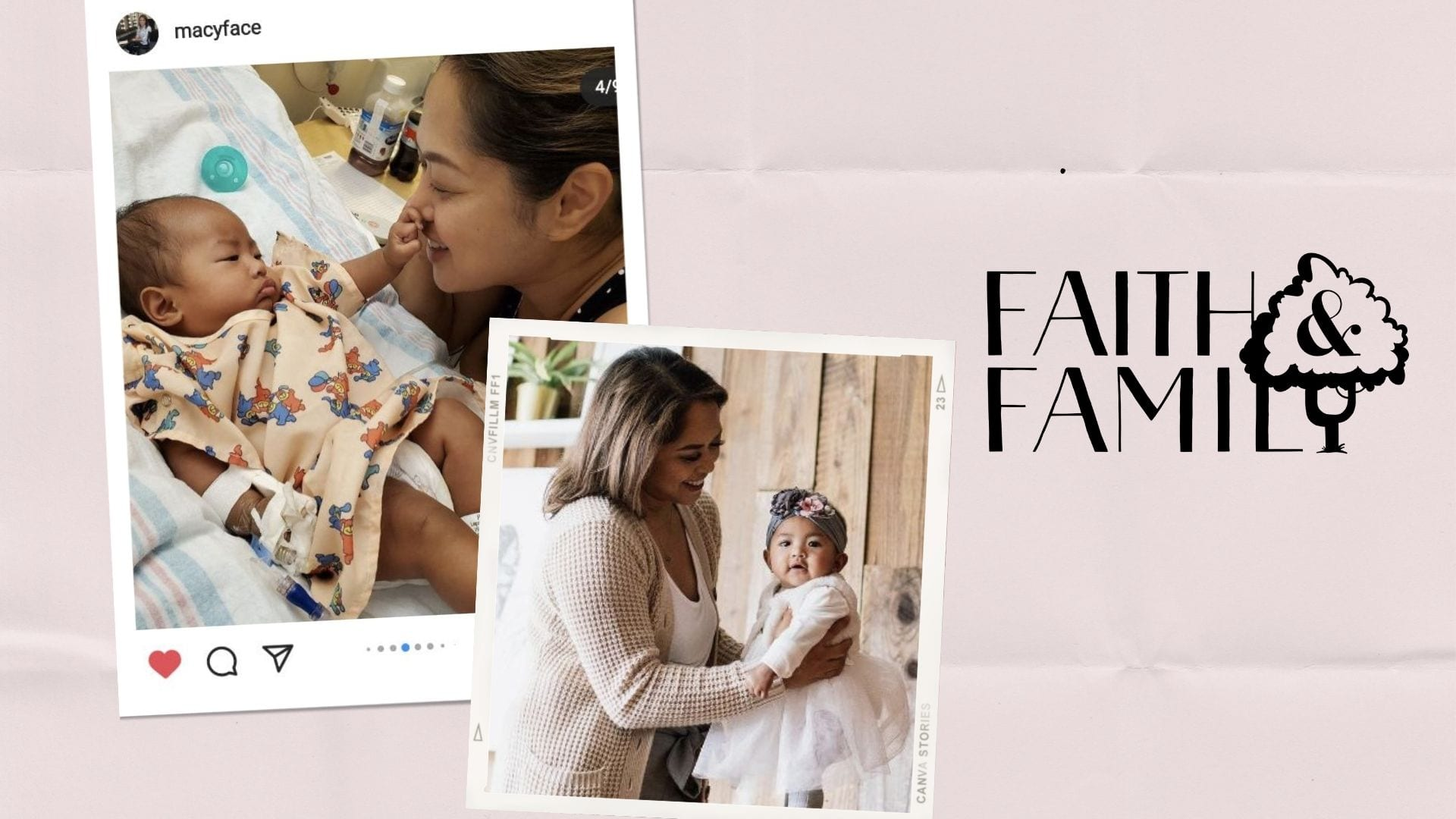 collage of photos of mom and her daughter