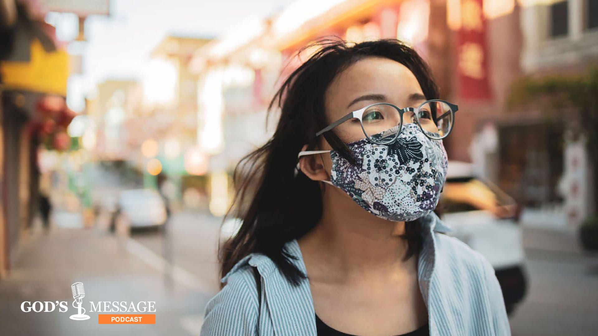 Young woman looking hopeful in the time of pandemic