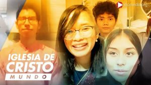 Smiling faces of Spanish and Asian youth members