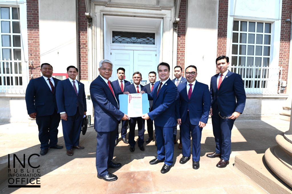 INC Ministers with the IGLESIA NI CRISTO DAY Proclamation from Elizabeth City, New Jersey