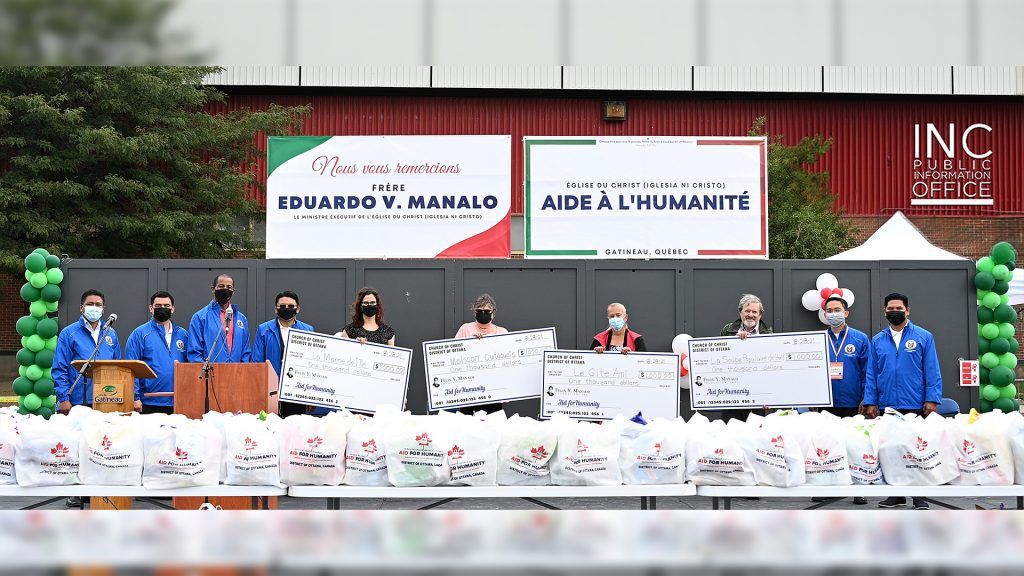 Four local charitable organizations in the Gatineau area each received a donation from the FYM foundation of the Iglesia Ni Cristo (Church Of Christ) on Aug. 28, 2021.