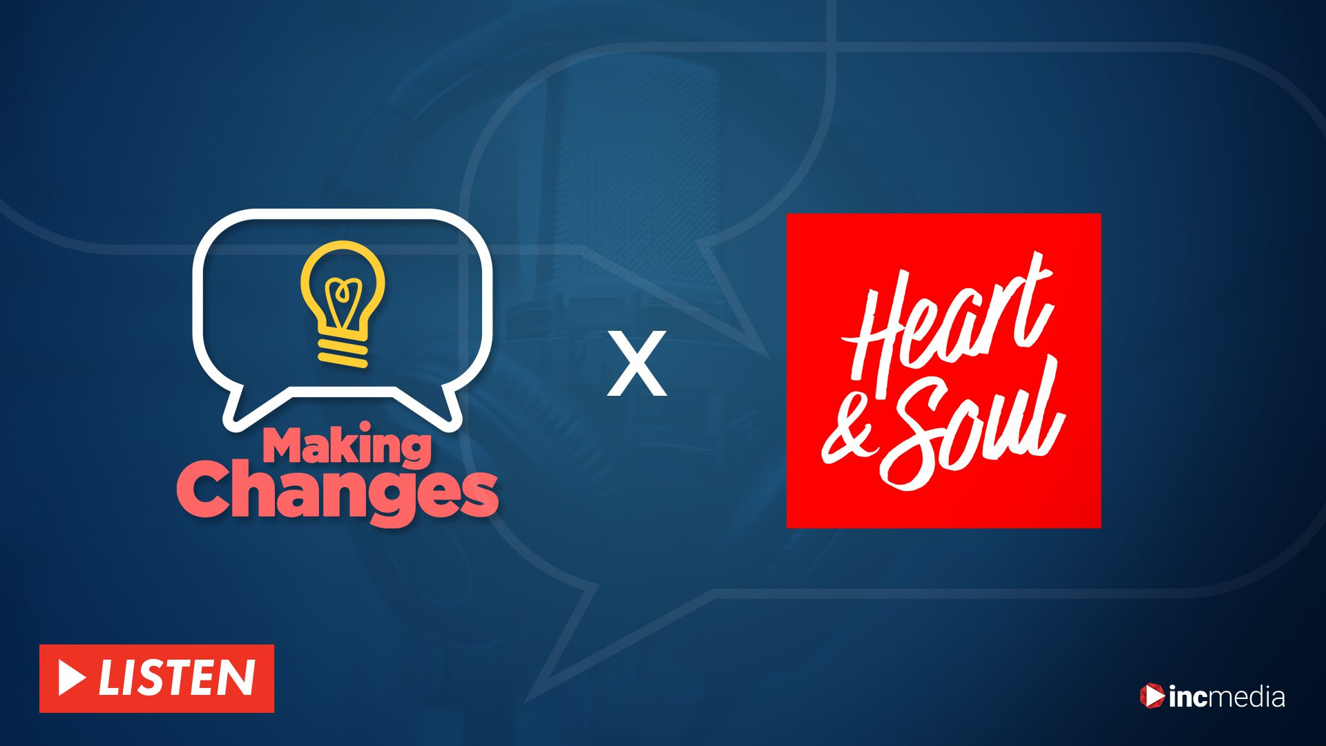 Making Changes and Heart and Soul logos on blue background